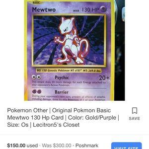 Pokémon card Rare mewtwo
